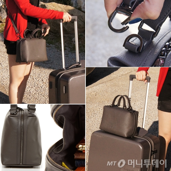 PLUME ELEGANCE SQUARE BOWLING BAG S ANTHRACITE GREY/사진=마아라 기자