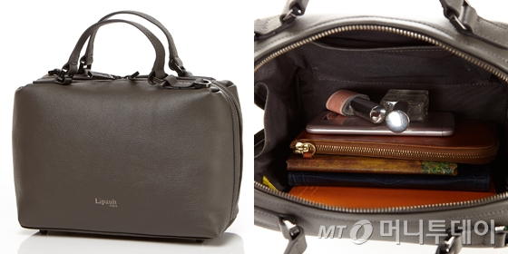 PLUME ELEGANCE SQUARE BOWLING BAG S ANTHRACITE GREY /사진제공=리뽀