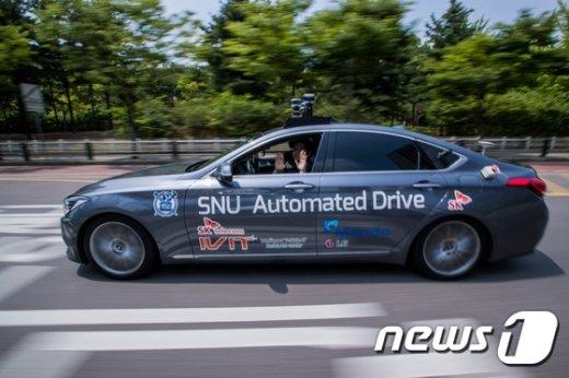 [사진]국내 최초, 일반도로 자율주행하는 '스누버'