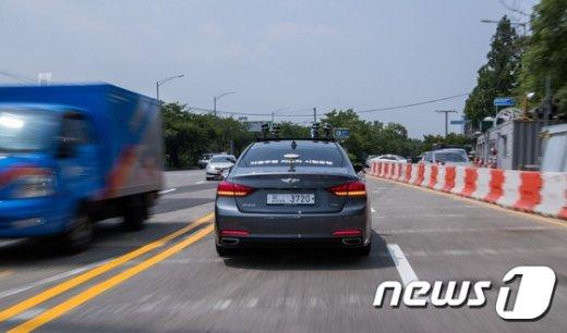 [사진]자율주행 자동차의 일반도로 주행