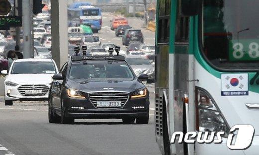 [사진]자율주행차 '스누버' 도심 질주