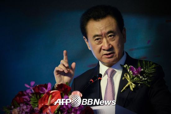 중국 최고 부호로 꼽히는 왕젠린 다롄완다그룹 회장/AFPBBNews=뉴스1