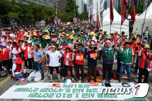 [사진]민주일반연맹 총력결의대회 '비정규직 철폐 촉구'