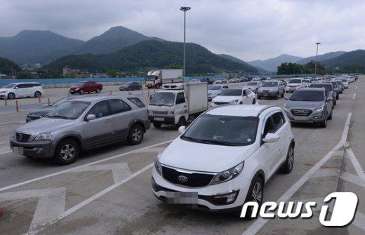 [사진]서울서 90분만에 양양간다던 동서 고속도로 '정체'