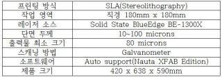 XFAB 제품 사양/사진제공=㈜에이치디씨 HDC(DWS XFAB 총판)
