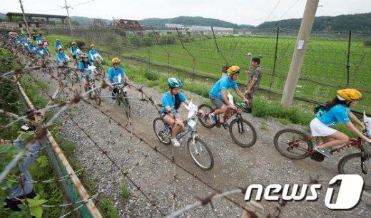 [사진]재외동포 청소년 DMZ 자전거 평화 대행진