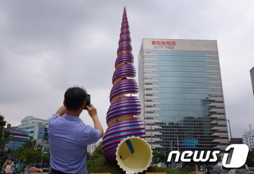 [사진]청계광장 복원 상징물 '스프링' 새단장