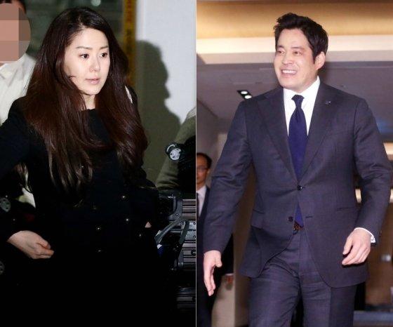 배우 고현정(왼쪽)과 정용진 신세계그룹 부회장/사진=임성균 기자