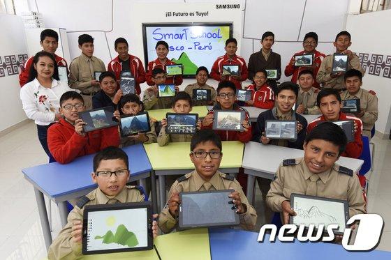 [사진]'삼성 스마트 스쿨에서 IT 교육 받아요'