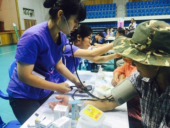 원광대 의과대학 원불교학생회, 담양서 의료봉사