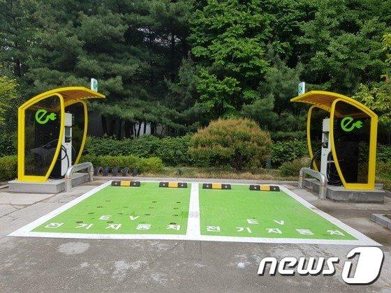 노원구 제로에너지주택 급속충전기(노원구 제공)© News1