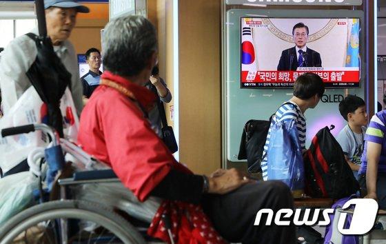 [사진]문재인 대통령 '취임 100일 기자회견'