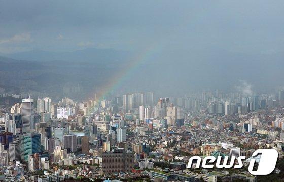 [사진]무지개 뜬 서울