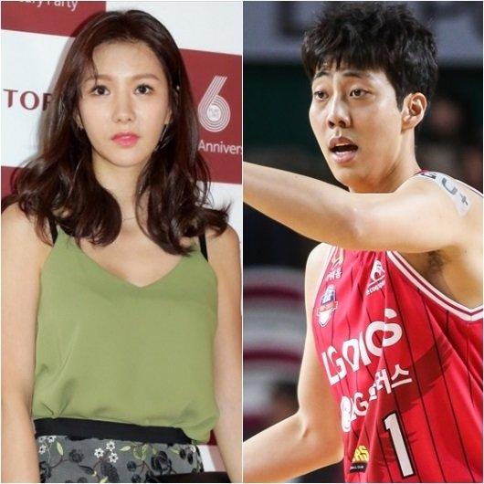 정아(왼쪽)와 정창영 /사진=김창현 기자, KBL