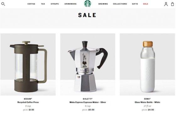 '파이널 할인'으로 할인중인 스타벅스 제품들 /사진=미국 스타벅스 온라인몰
