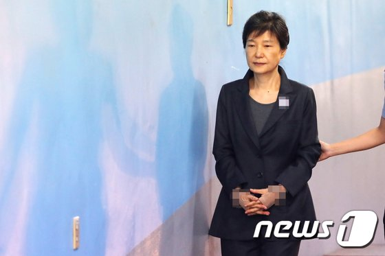 [사진]법정으로 향하는 朴 전 대통령