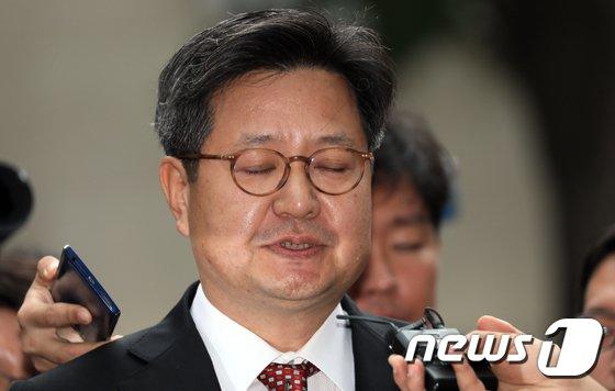 [사진]눈감은 김장겸 MBC 사장
