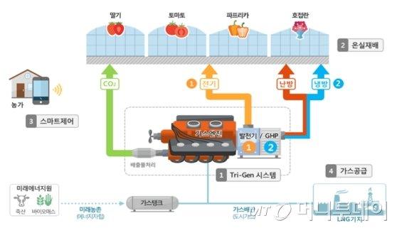 시설원예 가스히트펌프 시스템./자료제공=한국기계연구원