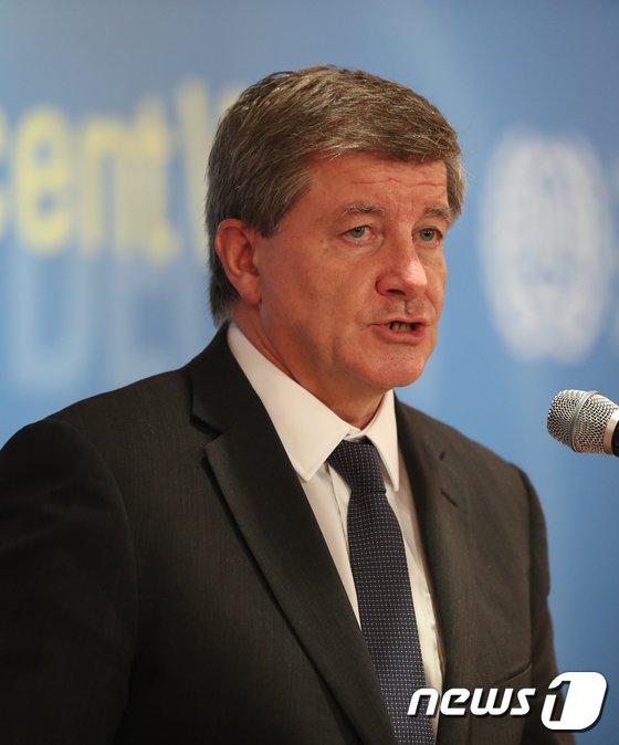 [사진]가이 라이더 ILO 사무총장, 일자리 포럼 기조연설