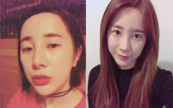 앞서 서인영 인스타그램에 올라온 서인영의<br />  모습(왼쪽)과 최근 게재된 서인영 사진(오른쪽). /사진=서인영 인스타그램