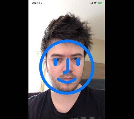 아이폰X의 '페이스 ID' 작동 모습. 사진=길례르미 램보 트위터 /사진= News1
