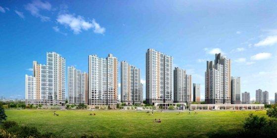 호반건설이 9월 김포에서 분양하는 '김포한강신도시 호반베르디움 6차' 투시도. /사진제공=호반건설