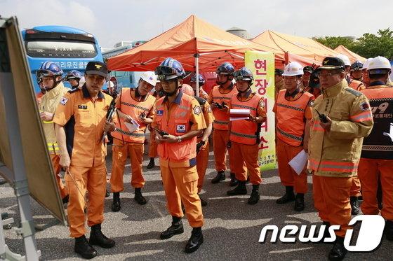 [사진]'재난대비 긴급구조 불시훈련'