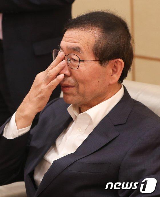 [사진]'박원순 제압문건' 박원순 시장의 심정은?
