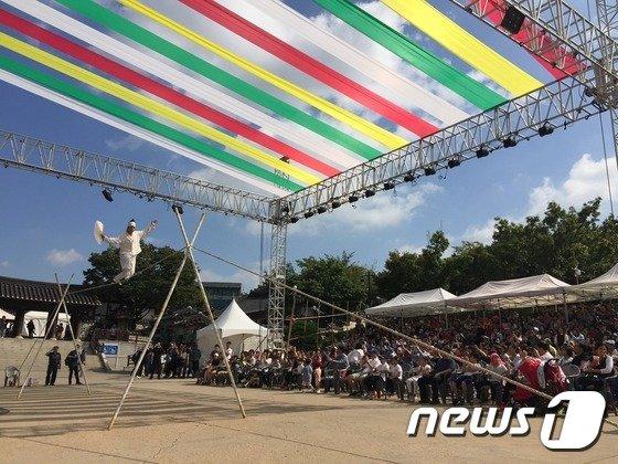 국가무형문화재 제58호 줄타기(서울시 제공)© News1