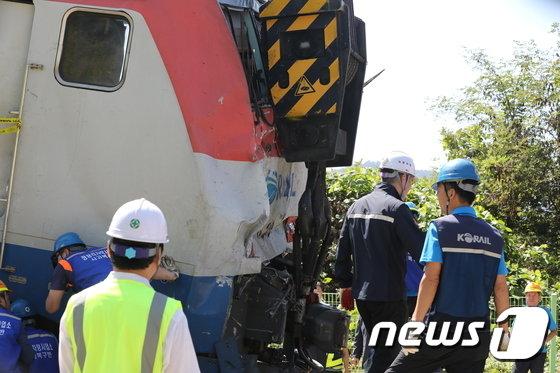 [사진]경의중앙선 사고열차