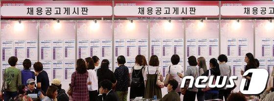 [사진]채용박람회 찾은 여성 구직자들