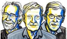 2017 노벨화학상 공동수상자(왼쪽부터) 자크 두보쉐 교수, 요아힘 프랭크 교수, 리처드 헨더슨 교수/사진=노벨위원회 홈페이지