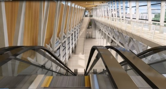 GS건설이 시공하는 싱가포르 소재 지하철 T(톰슨라인)203 공구 지하철 환승역사 내부<br />  투시도. /사진제공=GS건설