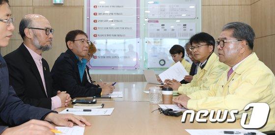 [사진]경기도교육청 찾은 전교조