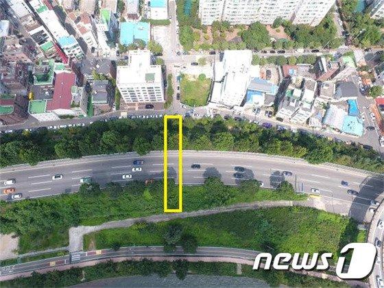용강동-한강공원 나들목 예정지 현장(서울시 제공)© News1