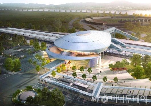 한국철도공단 호남본부는 호남고속철도 2단계 사업인 나주역사증축 공사를 오는 11월1일첫 삽 뜬다.(새로 증축되는 나주 역사 조감도)