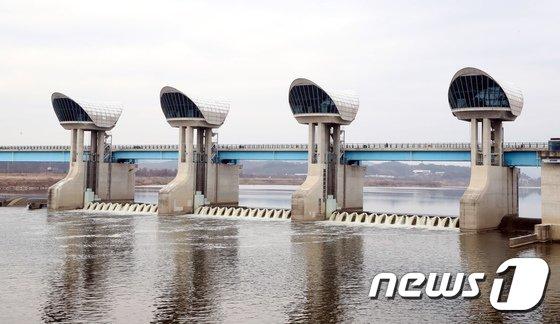 [사진]막힌 물길에서 다시 흐르는 금강