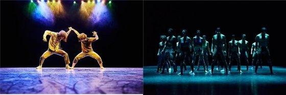 (왼쪽부터) 연극 '더 정글북', 무용 '라라라 프로젝트' 공연 모습/사진제공=한국문화예술위원회.<br />