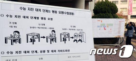 [사진]2018 수능 '시험도 걱정, 지진도 걱정'