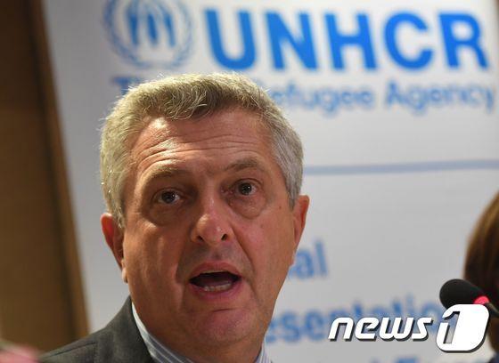 필리포 그란디 (Filippo Grandi) 유엔난민기구(UNHCR) 최고대표. / AFP PHOTO / ATTILA KISBENEDEK