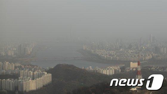 [사진]'미세먼지에 갇힌 서울'