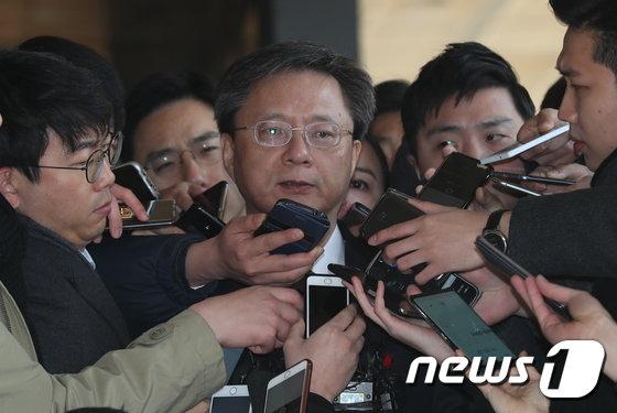 [사진]우병우 전 수석 4번째 검찰소환