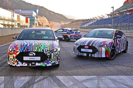 비주얼 아티스트 '빠키(Vakki)'와의 협업을 통해 제작된 위장랩핑을 한 신형 벨로스터의 모습 /사진제공=현대자동차