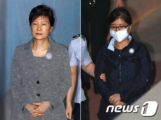 박근혜 전 대통령과 '비선실세' 최순실씨.  © News1