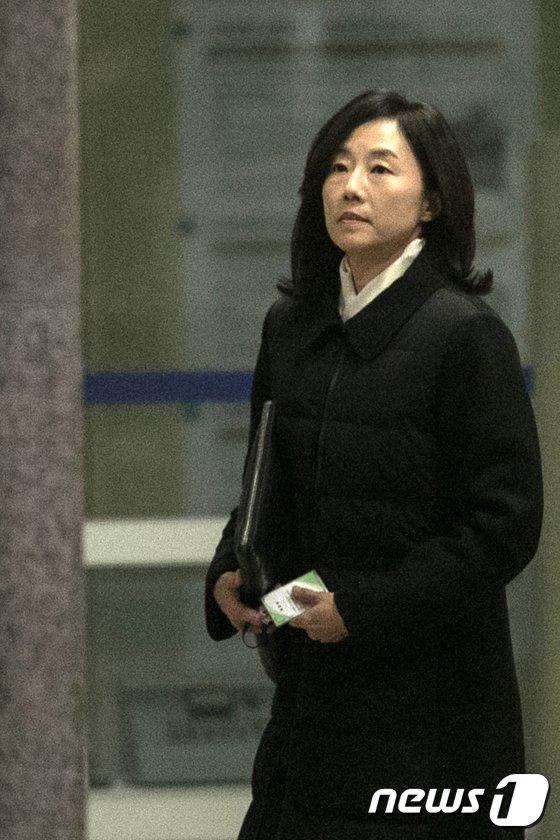 [사진]조사실 향하는 조윤선 전 수석