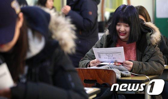 [사진]수능 성적 '미소'