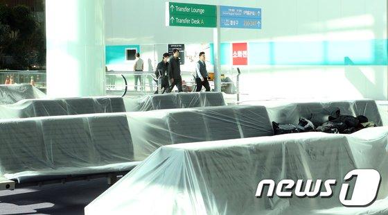 [사진]베일에 싸인 인천공항 제2여객터미널