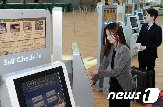 [사진]인천공항 제2여객터미널, '셀프체크인으로 보다 빠르게'