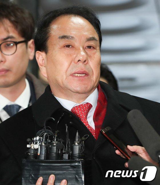 [사진]'지방선거 금품 수수'  이우현 의원, 영장실질심사