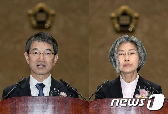[사진]안철상-민유숙 신임 대법관 취임
